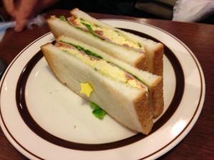 星乃珈琲 ハムと野菜と玉子のトーストサンド