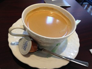 パティスリーアタッシェのコーヒー