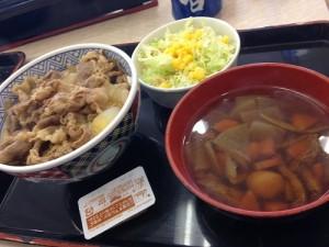 吉野家 牛丼並盛&けんちん汁