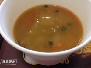 ロッテリア 蒙古タンメンバーガースープ