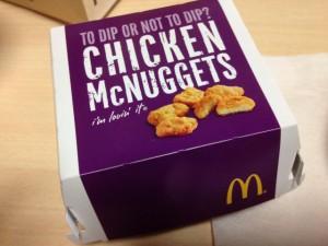 マクドナルド チキンマックナゲット箱