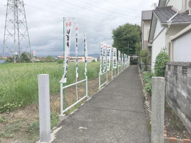 いぼ神社までの通路