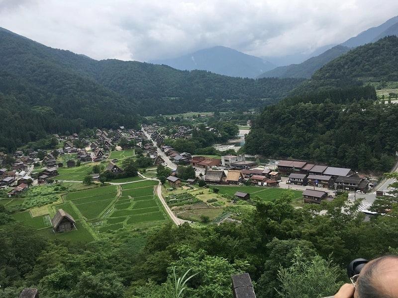 白川郷 の高台風景