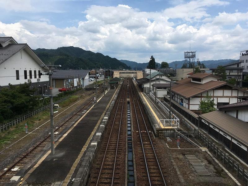 飛騨古川駅 君の名は。スポットから撮影